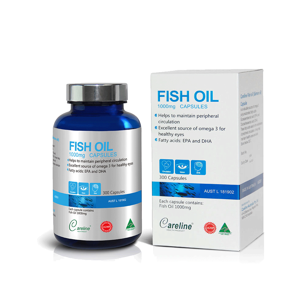 Careline Blue Summit Fish Oil 1000mg SGC (300  Blue Jar/Boxed)