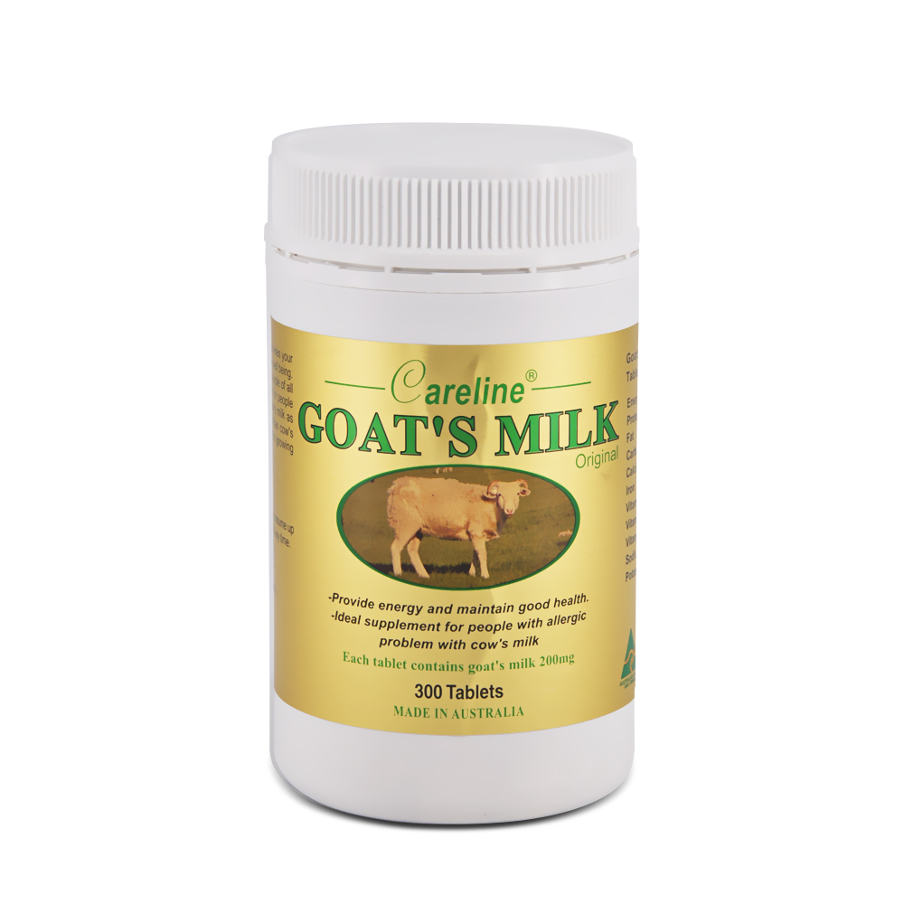 Careline Goat's Milk 200mg 300's (Original) White
