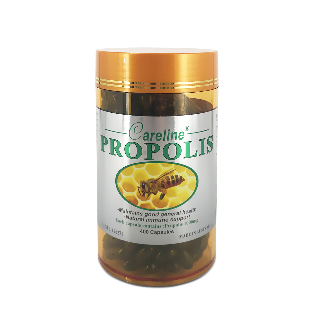 Careline Propolis 1000mg SGC (400  Gold Jar/No Box)