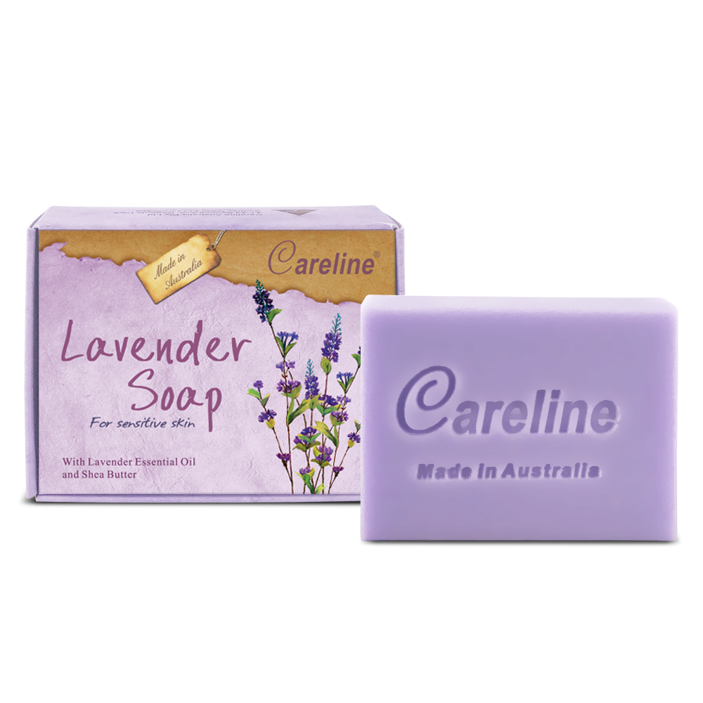 Careline Lavender Soap with Lavender Essential Oil and Shea Butter 100g