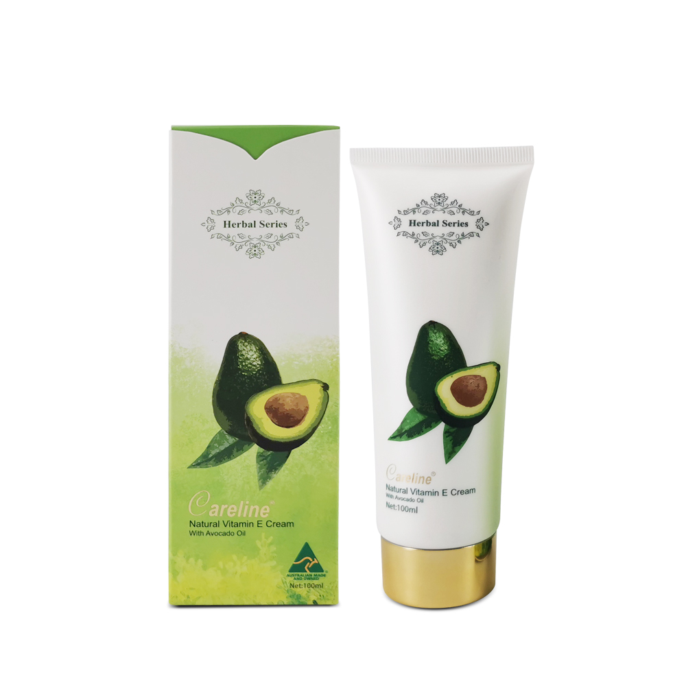 Careline Herbal Series Nature Vitamin E Cream with Avocado Oil 100ml (Tube)